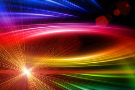 Futuristische Technologie-Welle Hintergrund Design mit Licht Standard-Bild - 19896758