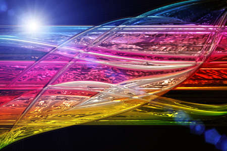 Futuristic technology wave background design with lights Stock Photo - 19896949