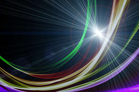 lights: Futuristic technology wave background design with lights