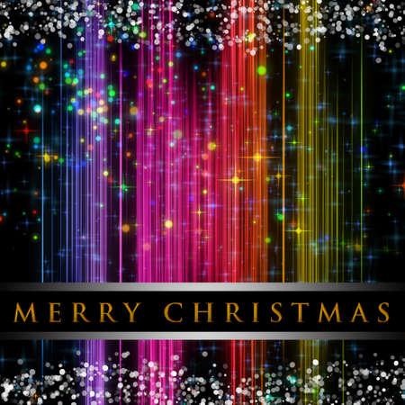 星や雪と素晴らしいクリスマス背景デザイン イラスト