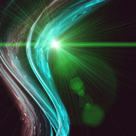 technically: Futuristic technology wave background design with lights