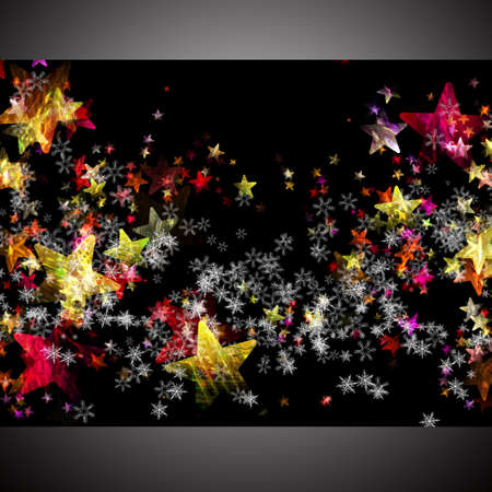 Wonderful Christmas background design illustration with stars and snowflakes illustration