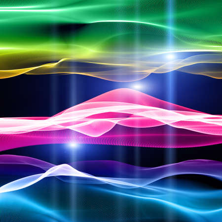 Futuristic technology wave background design with lights Stock Photo - 23646497