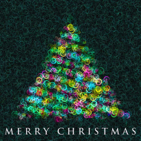 Wonderful Christmas tree design illustration illustration