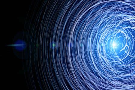 Futuristische technologie golf achtergrond ontwerp met lichten Stockfoto