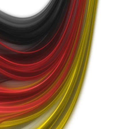 kickoff: Illustrated wave in german colors for sport events
