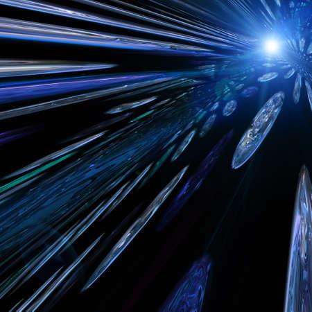 determined: Futuristic technology background design