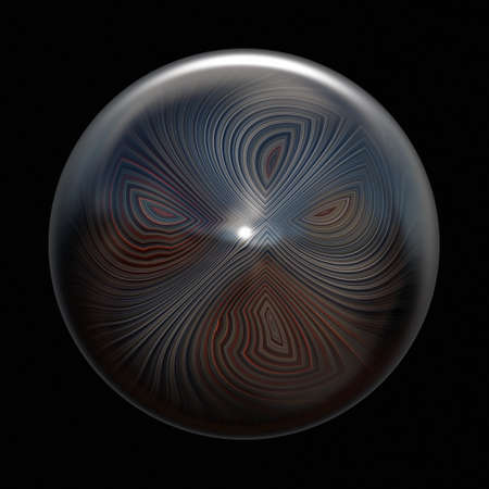 Wonderful abstract illustrated glass object