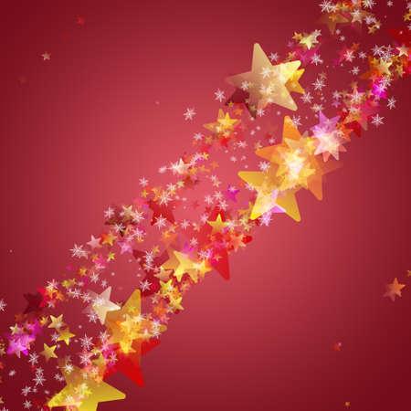 Wonderful Christmas background design illustration with snowflakes and stars illustration