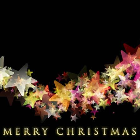 Wonderful Christmas background design illustration with stars illustration