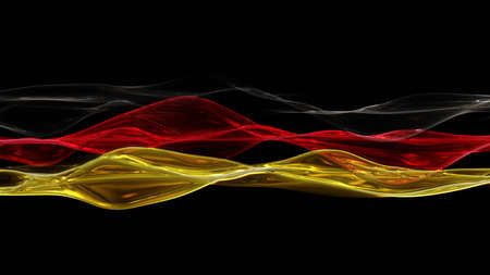 kickoff: Illustrated German colors for sport events Stock Photo