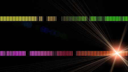 stripe background: Futuristic stripe background design with lights Stock Photo
