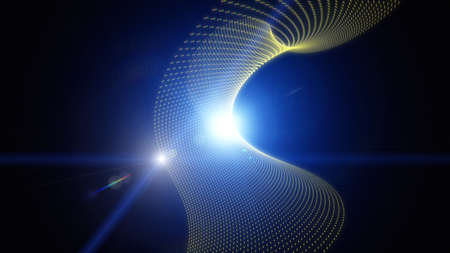 abstract swirls: Futuristic eco wave background design with lights