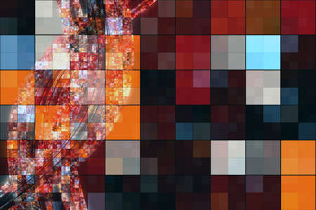 square background: Abstract square background design illustration Stock Photo