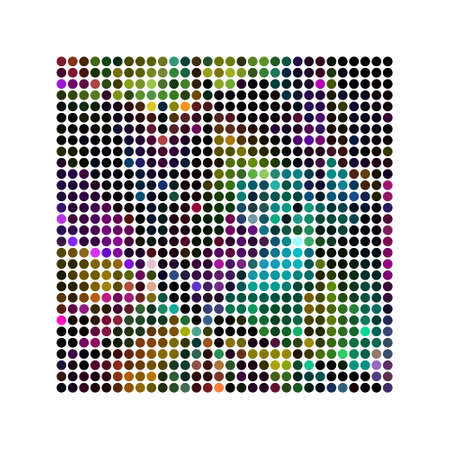 progressed: Abstract powerful dot background pattern Stock Photo