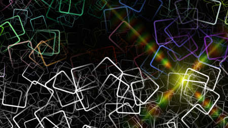 progressed: Abstract square background design with light
