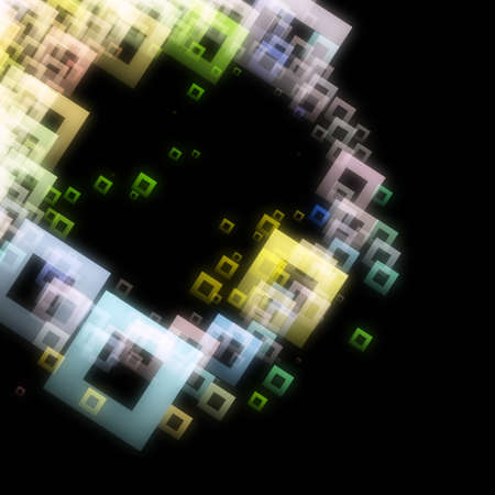 progressed: Abstract square background design illustration Stock Photo