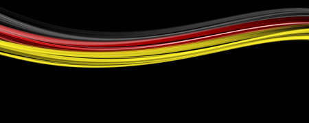 kickoff: Illustrated German colored wave design for sport events