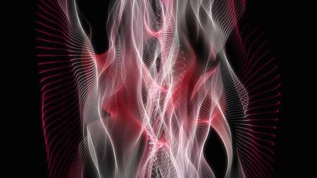 vision loss: Powerful wave background design illustration