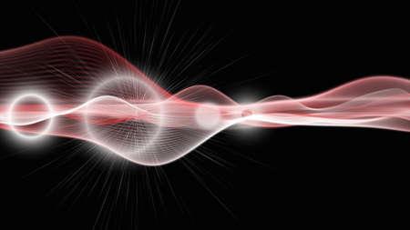 laser radiation: Powerful background design illustration with light Stock Photo