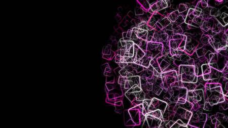 progressed: Abstract romantic square background design illustration