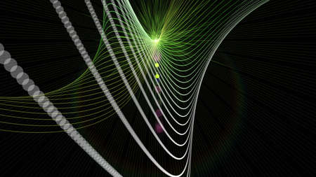 Futuristic eco particle background design illustration with lights Stock Photo