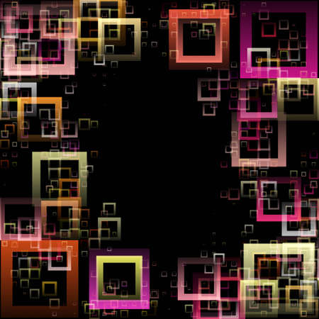 progressed: Abstract square background design illustration Stock Photo