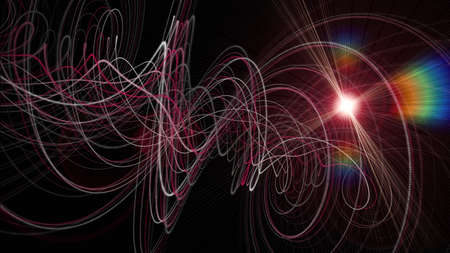vision loss: Futuristic particle background design illustration with lights Stock Photo