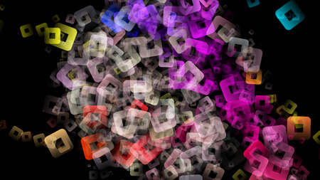 Abstract square background design illustration Stock Photo