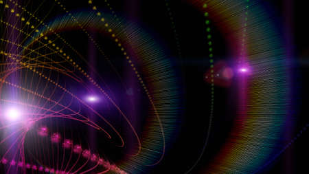 Futuristic particle background design illustration with lights Stock Photo