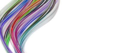 テキストのスペースと抽象的なエレガントなパノラマ背景デザイン