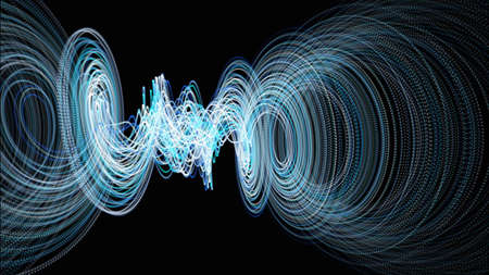 Futuristic particle stripe background design illustration