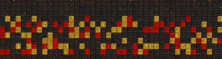 Wonderful abstract illustrated panorama glass pattern Stock Photo