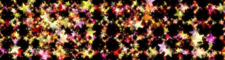 Wonderful Christmas panorama background design illustration with stars Stock Photo