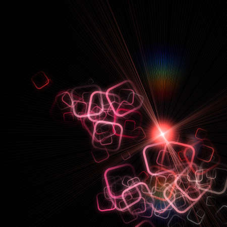 Abstract square background design with light