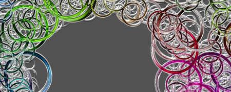 Fantastic circle design panorama background illustration
