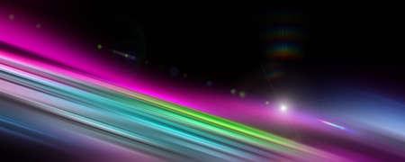 Futuristic stripe panorama background design with lights Imagens