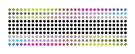 Abstract modern dot panorama design background illustration