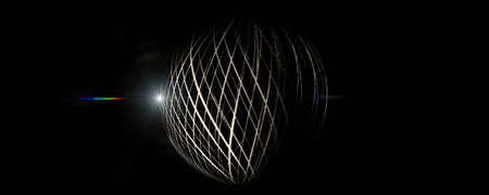 Futuristic stripe panorama background design with lights Stock Photo