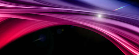 Abstract elegant romantic wave panorama design with lights