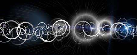 Futuristic circle panorama background design illustration with lights Stock Photo