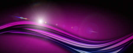Abstract elegant romantic wave panorama design with lights 免版税图像 - 126966729