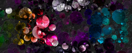 Abstract 3D glass panorama beckground design illustration Stock Photo