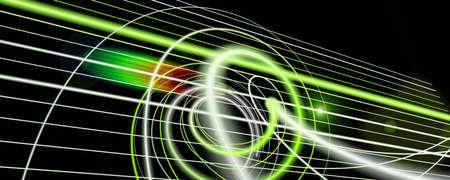 Futuristic particle panorama background design illustration with lights Reklamní fotografie