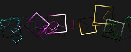 Abstract square panorama glass 3D background design illustration Reklamní fotografie