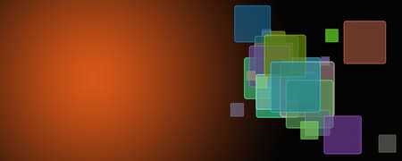 Abstract square panorama background design illustration Reklamní fotografie