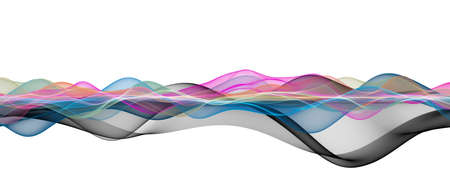 Abstract elegant wave panorama design with space for your text Stock fotó