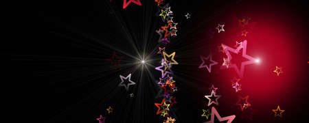 Fantastic Christmas panorama design illustration with glowing stars Stock fotó