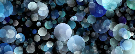Abstract bubble panorama design background illustration