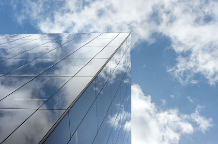 magnificence: Low angle of tall corporate glass buildings. Southwark, London